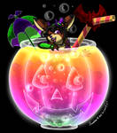 kitsunieFoxwolf Halloween Party Drink by Colorfulmoongato