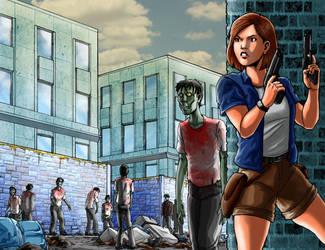 Because Zombies - Meet Nancy by JamesRod71