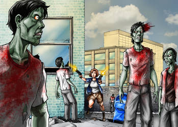 Because Zombies - Meet Nancy 02 by JamesRod71