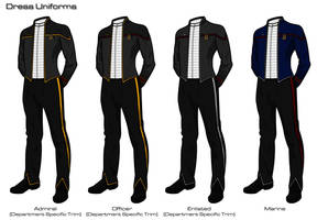 Starfleet '2409' Uniforms - Dress Uniforms by HaphazArtGeek
