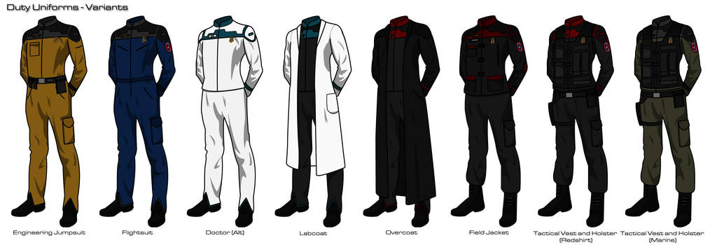 Starfleet 2409 Uniforms Variant Uniforms By