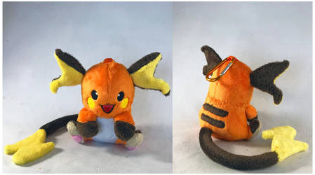 Shiny Raichu Keychain Plush by StarMassacre