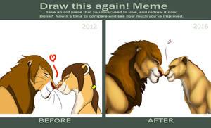 Draw this again meme - Sherik and Aru by Rakuens