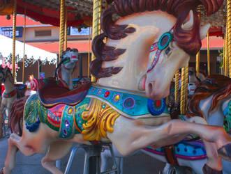 Del Mar- Carousel Pony by hotwiar