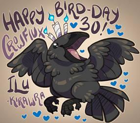 Crow's 30th BIRD-Day by KiRAWRa