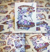 Feminist Unicorn Vinyl Stickers by KiRAWRa