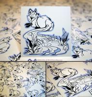 Foxtail River Vinyl Stickers by KiRAWRa
