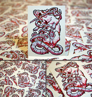 Ratober Stitched Vinyl Stickers by KiRAWRa