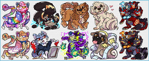Scribbles: DOGS DOGS and cats again by KiRAWRa