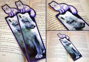 Arctic Fox Companion Bookmark by KiRAWRa