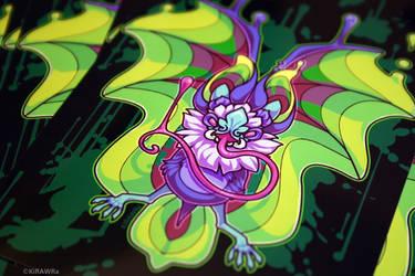 Glossy Art Print: Bat Nectar by KiRAWRa