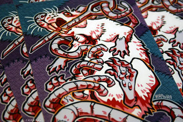 Glossy Art Print: Stitched by KiRAWRa