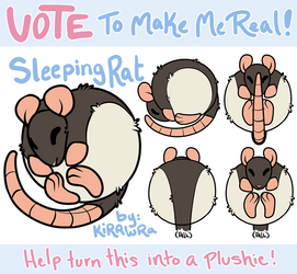 Squishable Rat Plush: Vote to Make it Real! by KiRAWRa
