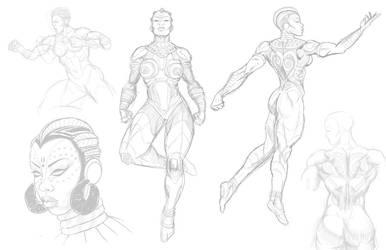Nubia sketches by Jamibug