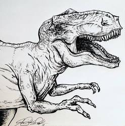 T-rex ink  by Jamibug