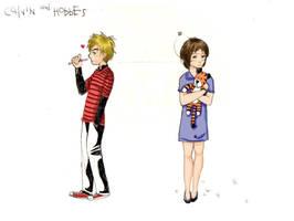 Calvin + Hobbes by LadySango7