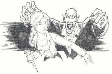 sketchy : Buffy by KidNotorious