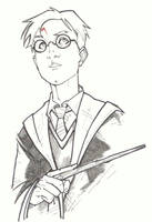 sketchy : Harry Potter by KidNotorious