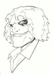sketchy : Dark Knight Joker by KidNotorious