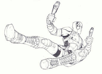 sketchy : Deadpool by KidNotorious