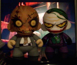 The Joker and Scarecrow Munny by KidNotorious