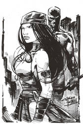 sketchy: Elektra by KidNotorious