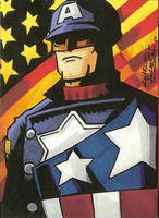 Captain America sketch card by KidNotorious
