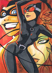 Gotham Girls sketch card by KidNotorious