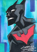 Batman Beyond sketch card by KidNotorious