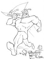 The Tick and Arthur by KidNotorious