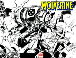 Wolverine and Hawt Girl cover by KidNotorious