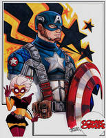 Comic Oasis Cardstock Captain America by KidNotorious