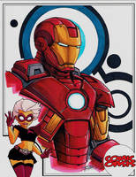 Comic Oasis Cardstock Iron Man by KidNotorious