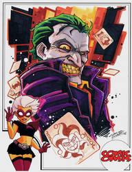 Comic Oasis Cardstock Joker by KidNotorious