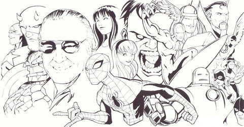 Stan Lee poster by KidNotorious