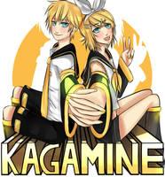 Kagamine Twins by MokkunChan