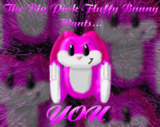 WP - BIG PINK FLUFFY BUNNY by DreamKnightCMC