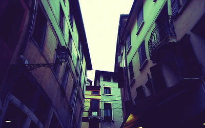 In the Streets of Vicenza by Benjigarner