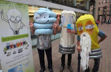 Light Bulb Mascot Characters by UsagiHimesama