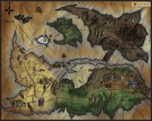 Evertale World Map by ShadowDragon22