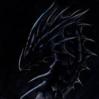 Dragon head of blackness by ShadowDragon22