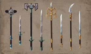 Alchemist Weapons Set Commission part 2 by ShadowDragon22