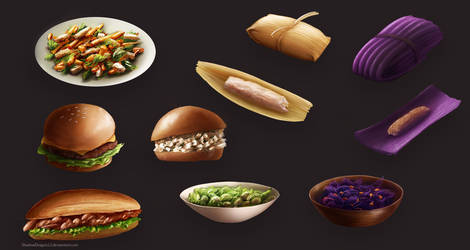 Luminare Saga Food Items by ShadowDragon22