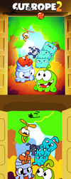 Cut the Rope promo redraw by ChickenCakes