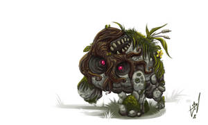 Thick Forest Creature by cruzarte
