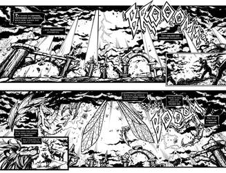 Condemnarum - The Ether Gates Spread Pages by cruzarte