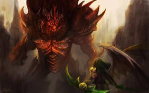 Digital Art: Diablo vs Illidian by zankax-x