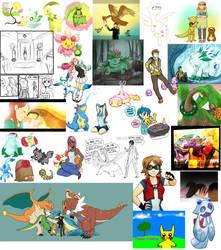 Old Pokemon Art by McRomu