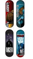 space theme skateboard designs by albertoo