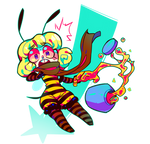 Lellow Bee by Krooked-Glasses